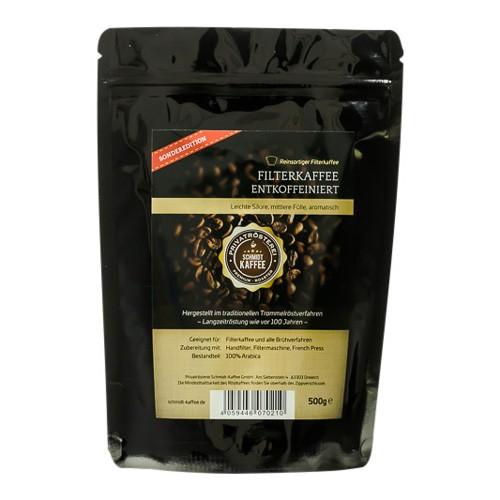Filterkaffee Entkoffeiniert
