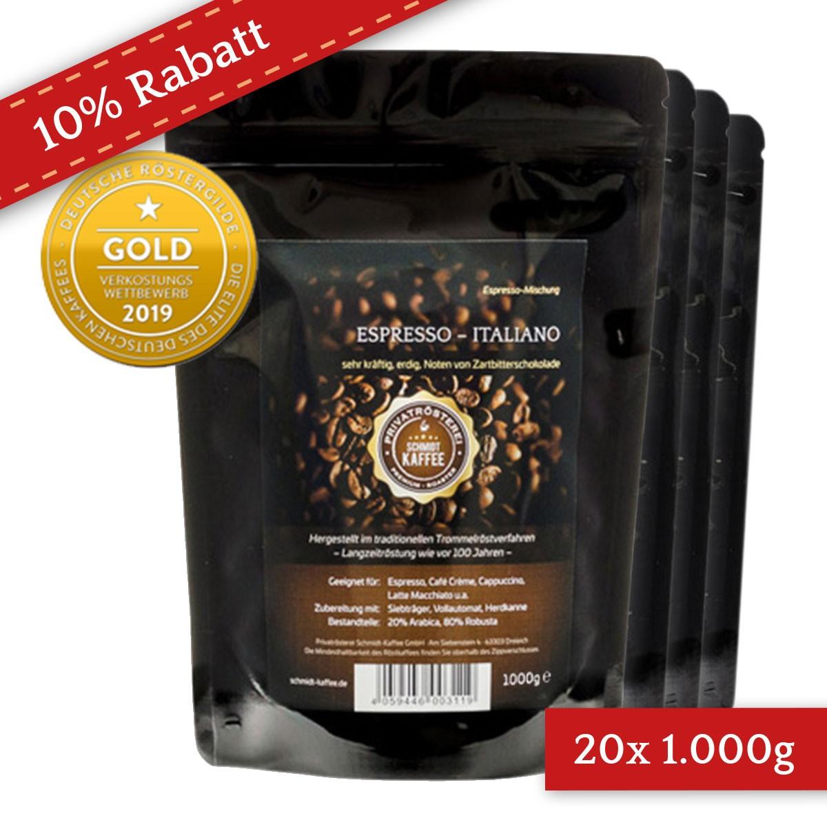20 Kilo Karton Espresso Italiano